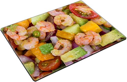 MSD Place Mat Non-Slip Natural Rubber Desk Pads design: 30744754 Shrimp and avocado summer salad