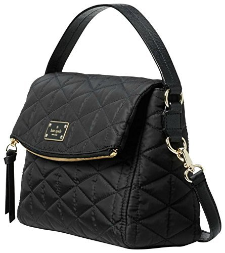 Inch 10 Spade Kate (Kate Spade Wilson Road Quilted Miri Black Nylon Cross Body Bag Women's Handbag)