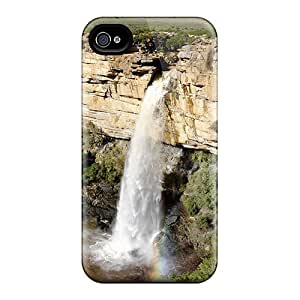 Flexible Tpu Back Case Cover For Iphone 4/4s - Doorn River Waterfall