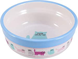 POPETPOP Ceramic Dog Bowl Puppy Dish Bowl Cat Food Water Feeder Bowl Blue