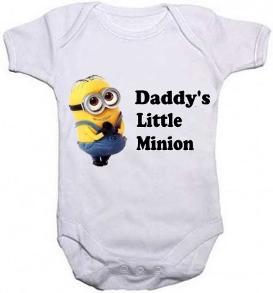 My Daddy Is One In A Minion Personalized Long Sleeve Baby Vests Bodysuits Unisex