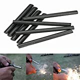 Lot 8 Ferrocerium 5/16'' Flint Fire Starter Magnesium Rod kits lighter Survival