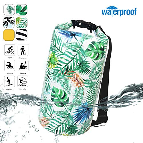Deer Mum Waterproof Dry Bags Top Roll Sack 10L/20L for Floating Boating Kayaking Fishing Swimming Camping Hiking Water Sports Sailing Biking Adventures Outdoors Shoulder Pack (pattern4, 20L)