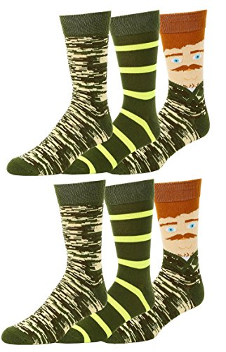 Gilbin's Mens Soft Stretchy Christmas Holiday Cool Casual Dress Socks, Assorted Designs Size 10-13 (Nut Cracker (Christmas Cracker Designs)