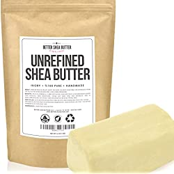 Unrefined Shea Butter by Better Shea Butter, 16 oz
