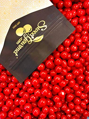 SweetGourmet Sour Cherry Balls, 1Lb - Sours Fruit Candy Balls