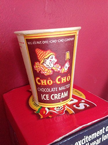 Vintage paper cup CHO CHO Chocolate Malted Ice Cream clown pictured Los Angeles (Ice Malted Cream)