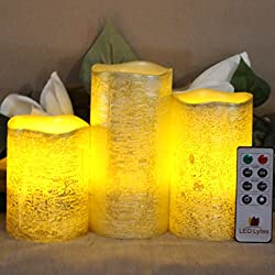 Battery Operated LED Flameless Candles Set of 3 Ro