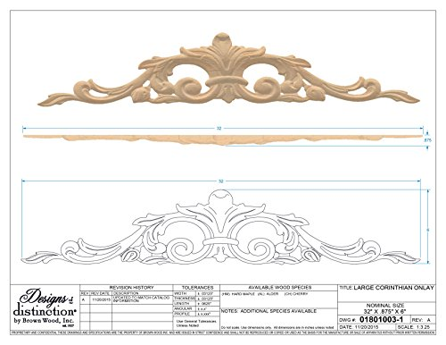 Corinthian Carved Wood Onlay, Alder by Designs of Distinction (Image #2)