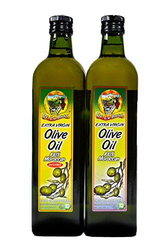 De La Rosa Real Foods & Vineyards - Kosher Moroccan Unfiltered Extra Virgin Olive Oil & Kosher EVOO 25.4 oz each by De La Rosa Real Foods & Vineyards