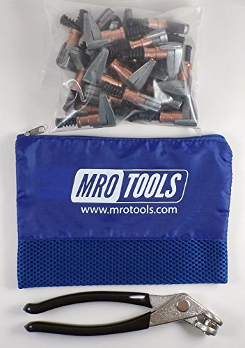 KSG2S25P 1/2 x 1 Cleco Side-Grip Clamps (SET OF 25) + Cleco Pliers w/ Carry Bag by MRO Tools Cleco Fasteners (Image #1)