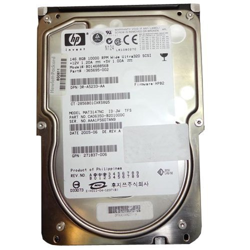 146.8GB SCSI HP 10K Ultra320 Universal Hot Swap Hard Drive BD1468856B ()