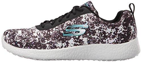Skechers Deporte de la explosión de la zapatilla de deporte de la manera iluminaciones Black/White