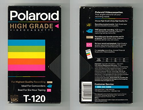 Polaroid High Grade Videocassette T-120 3 Pack