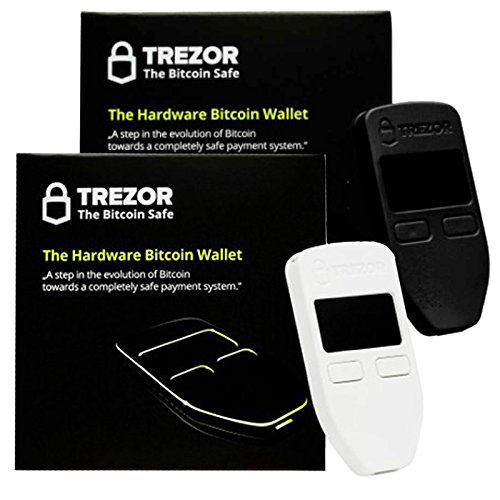 Black & White Combo Trezor Hardware Wallet Vault Safe for Digital Virtual Currency Bitcoin Litecoin