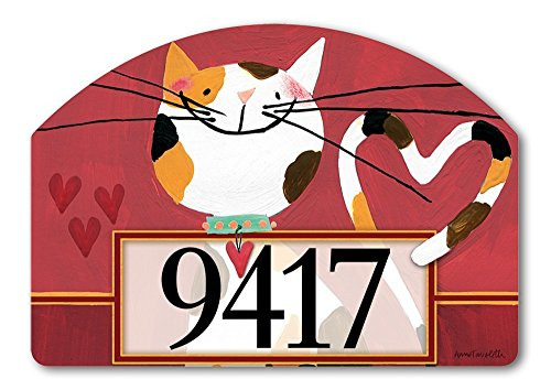 Sweet Kitty Yard DeSign Address Sign – 14″ x 10″ For Sale