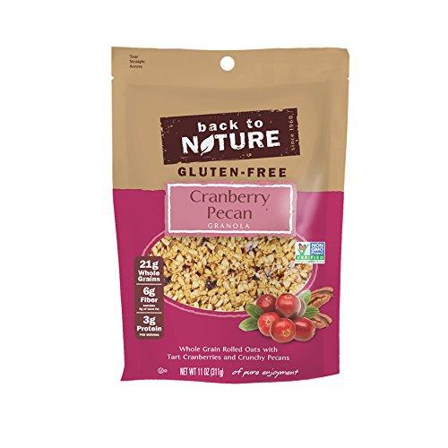 Back to Nature Gluten Free, Non-GMO Cranberry Pecan Granola, 11 Ounce (Pack of - Cranberry Pecan Granola
