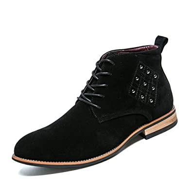 Xinke Zapatos de Vestir para Hombre de Negocios, Oxford ...