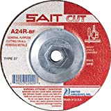 United Abrasives 4 1/2'' X 3/32'' X 5/8'' - 11 A24R 24 Grit Aluminum Oxide Type 27 Cut Off Wheel, 10 Each