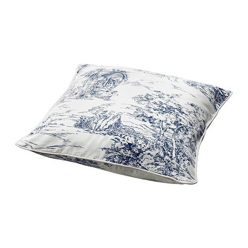Amazon.com: IKEA EMMIE LAND - Cushion cover, white/blue ...