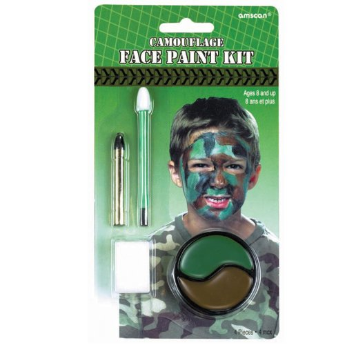 Camouflage Face Paint Kit