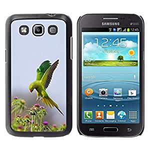 Oiseau Vert Fleurs Nature Parrot Printemps - Metal de aluminio y de plástico duro Caja del teléfono - Negro - Samsung Galaxy Win I8550