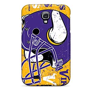 Samsung Galaxy S4 PZD12241oGKf Allow Personal Design Realistic Minnesota Vikings Image Shockproof Hard Cell-phone Cases -AlissaDubois