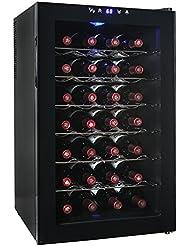 AKDY 28 Bottle Single Zone Thermoelectric Freestanding Wine Cooler Cellar Chiller Refrigerator Fridge Quiet Operation