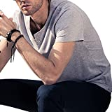 LTIFONE Mens Casual Slim fit Short Sleeve T-Shirt