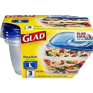 Envase de alimento GladWare plato hondo