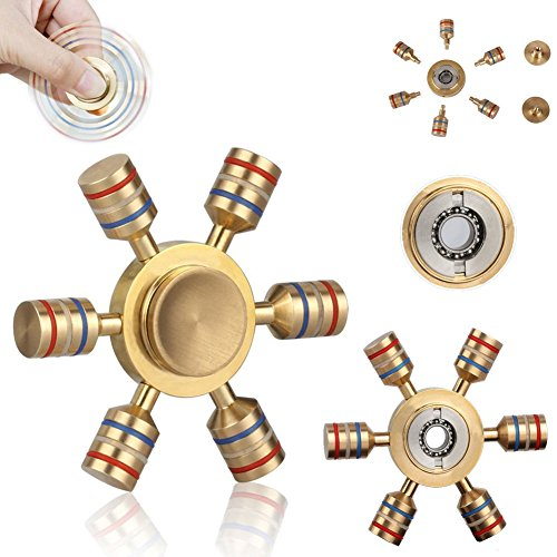Price comparison product image Hot sale!Relaxing DIY Glowing Brass Hand Spinner Fidget Ceramic Ball Desk EDC Focus Toy Kids Adult
