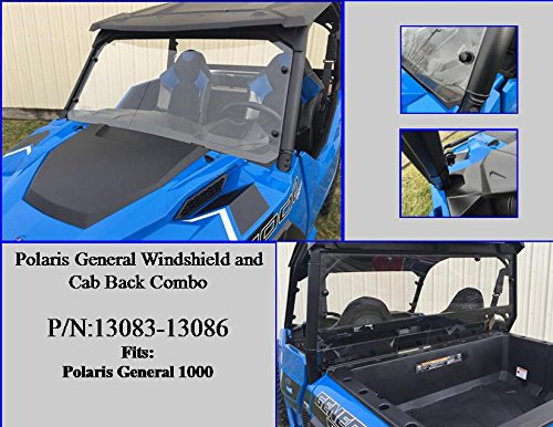 P//N:13083-13086 Polaris General Windshield /& Cab Back Combo
