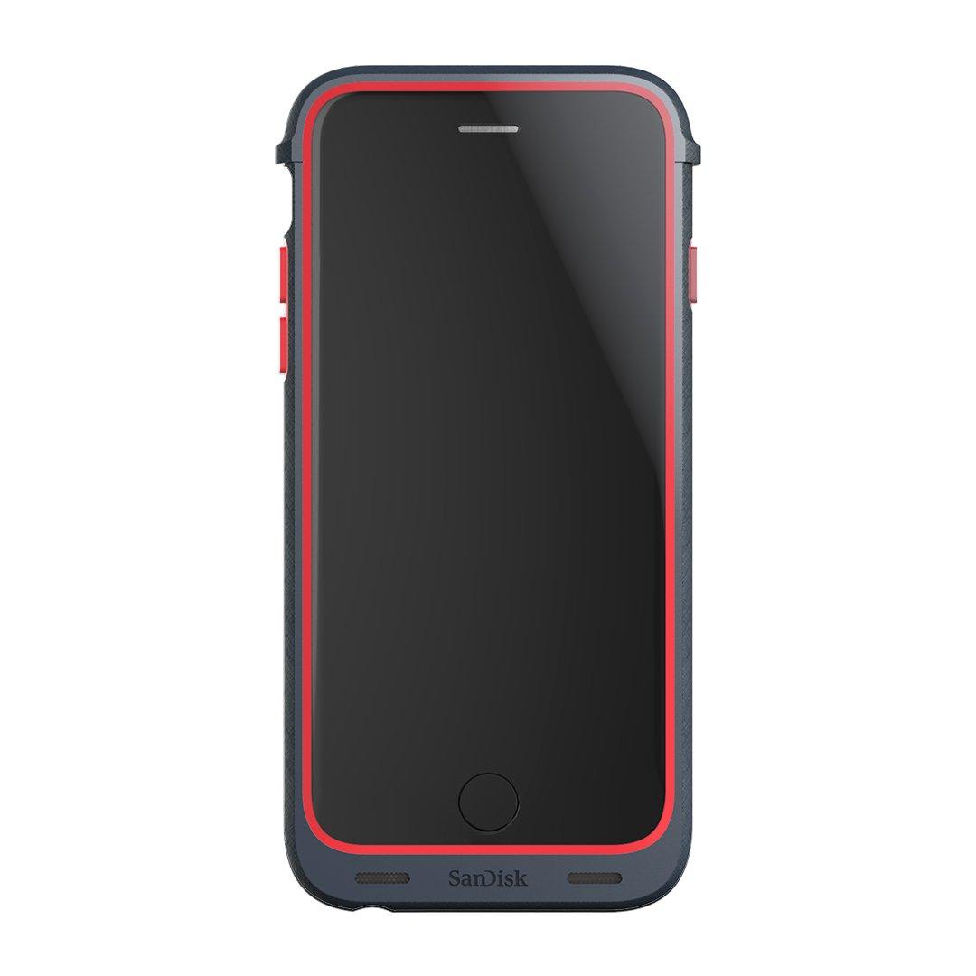 SanDisk iXpand 128GB Memory Case for iPhone 6/6s - Retail Packaging - Red