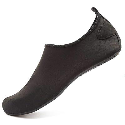 Amazon.com   Adorllya Water Shoes Socks for Women Men Barefoot Aqua Shoes Quick Dry Slip on Hiking Swim Shoes (4-5 M US Women, Black)   Water Shoes