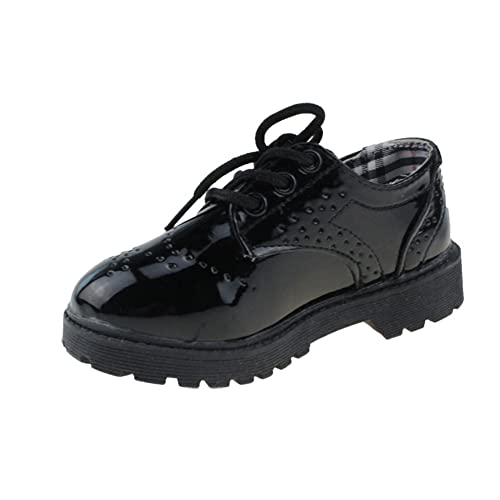 Amazon Com Maxu Children S Oxford Dress Shoes Lace Up Toddler