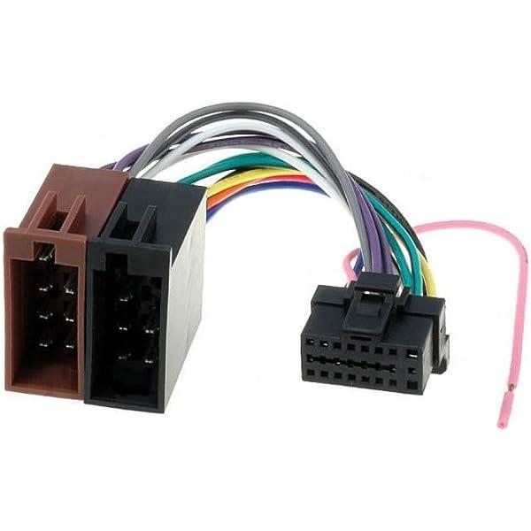 Amazon.com: Alpine 16 Pin to ISO Lead Wiring Loom Power Adaptor Wire Radio  Connector HarnessAmazon.com