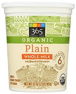 365 Everyday Value, Organic Whole Milk Yogurt, Plain, 32 oz