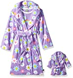 dollie me clothing - Dollie & Me Girls' Big Printed Robe Set with Matching 18 Inch Doll Outfit, Purple Floral, XS