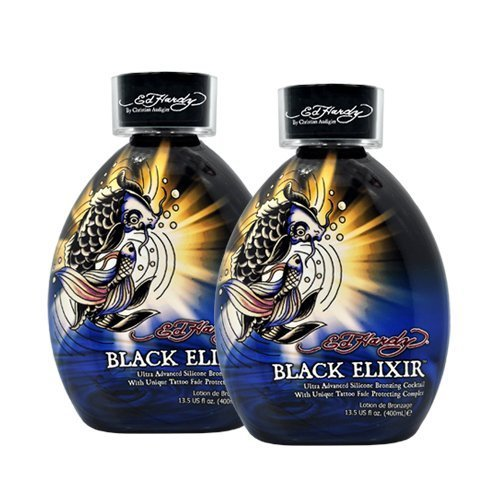 Lot 2 Ed Hardy Black Elixir Indoor Tanning Lotion Accelerato
