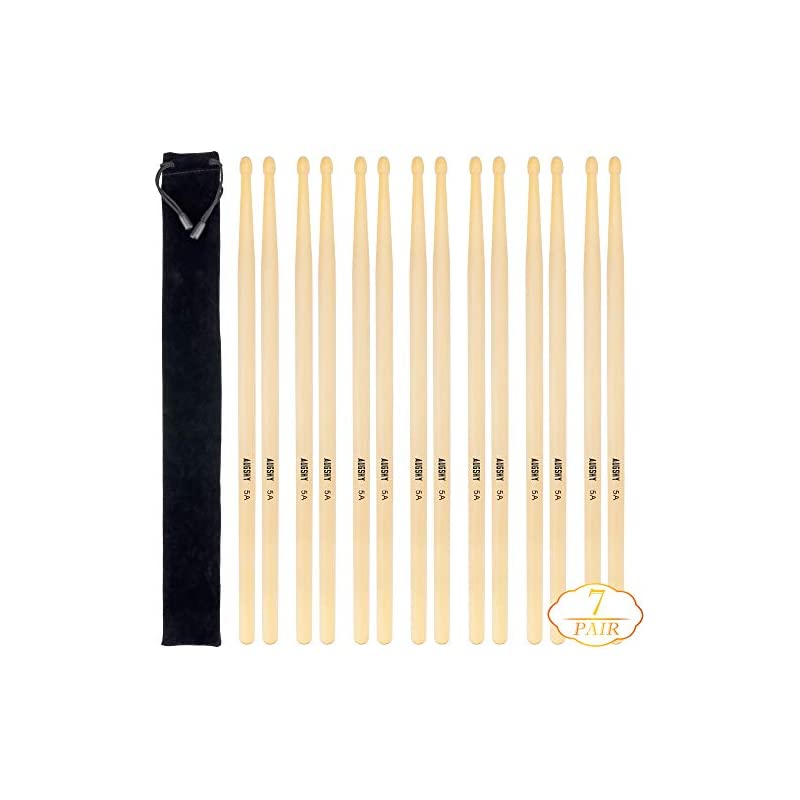 14 Packs 7pairs 5A Natural Drum Sticks,W