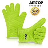 Best Heat Resistant Silicone Oven & Barbecue Gloves, BBQ Grilling...