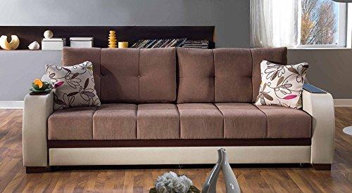 Amazon.com: Ultra Optimum Brown Sofa Sleeper: Kitchen & Dining
