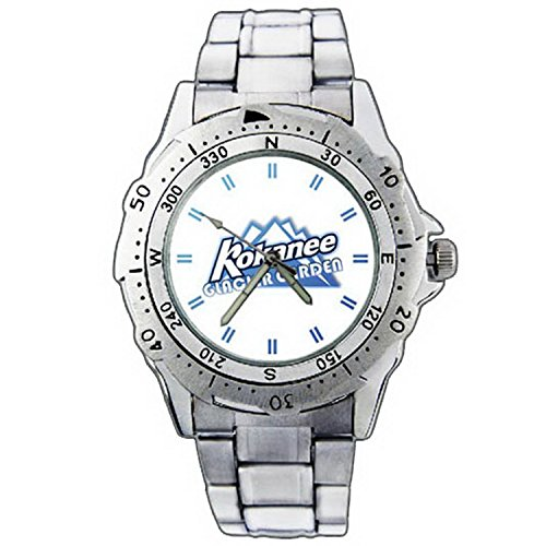 mens-wristwatches-pe01-1157-kokanee-glacier-garden-beer-logo-stainless-steel-wrist-watch