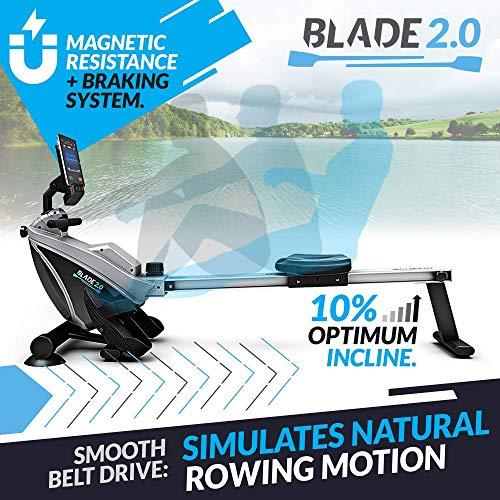 Bluefin Fitness Blade – Máquina de Remo Plegable para el Gimnasio doméstico con Resistencia magnética (transmisión de…