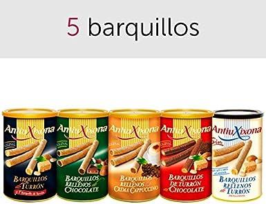 Pack de 5 barquillos de turrón: Amazon.es: Alimentación y bebidas