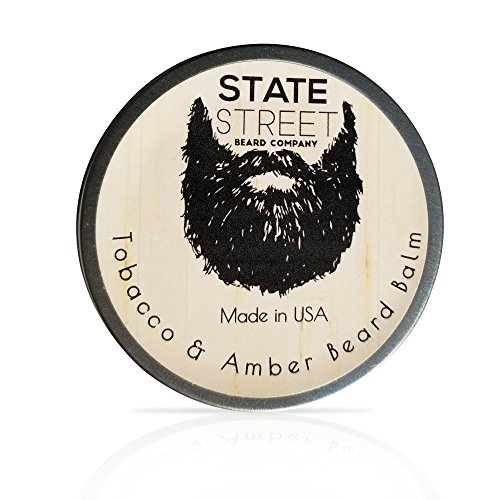 Tobacco   Amber Beard Balm  Leave In Conditioner By State Street Beard Company