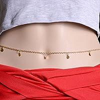 Women Sexy Body Chain Jewelry Waist Gold Belly Bikini Beach Necklace Coin Gift