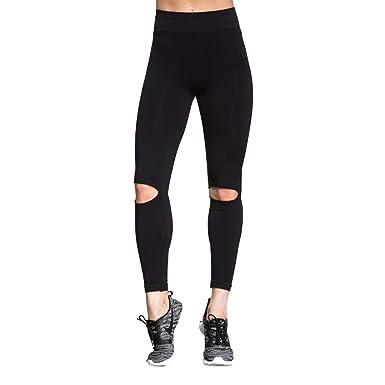 ba06695bcc7c1c Sexy Fashion Black Cutout Yoga Legging Hollow Out Design Yoga Pants Sports  Gym Exercise Workout