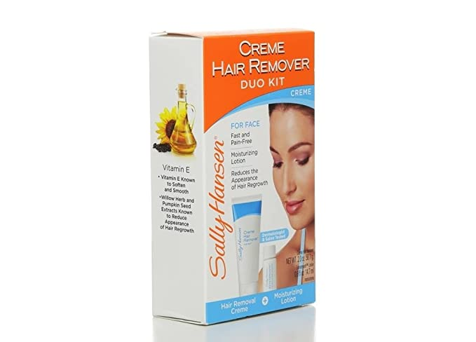 Sally Hansen Creme Hair Remover Kit For Face, Lip & Chin by Sally Hansen: Amazon.es: Belleza