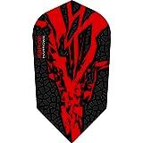 1 x Set Harrows Rapide X Red Dart Flights Slim